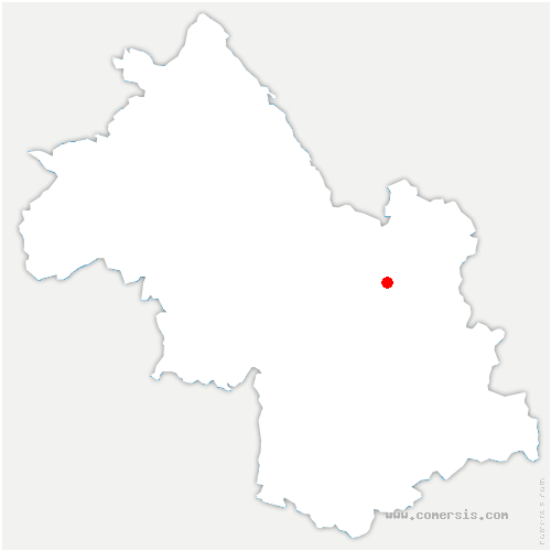 carte de localisation de Froges