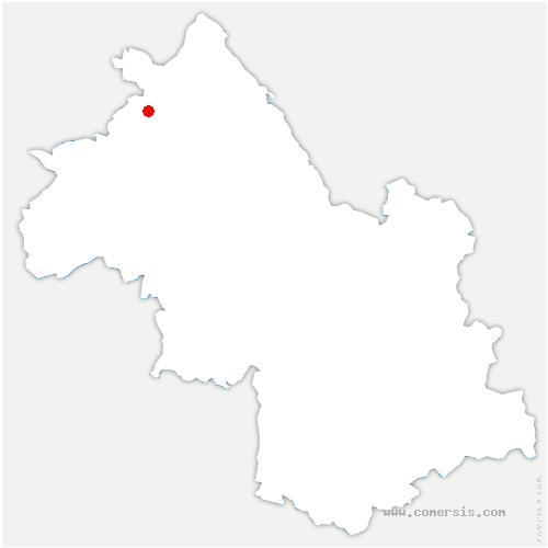 carte de localisation de Frontonas