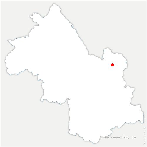 carte de localisation de Goncelin