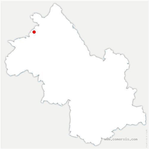carte de localisation de Grenay