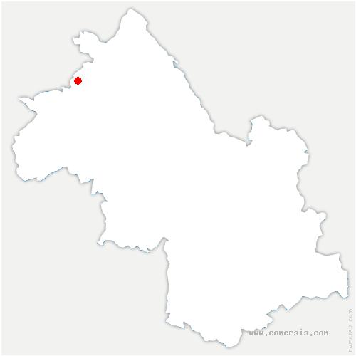 carte de localisation de Heyrieux