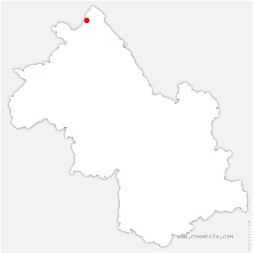 carte de localisation de Hières-sur-Amby