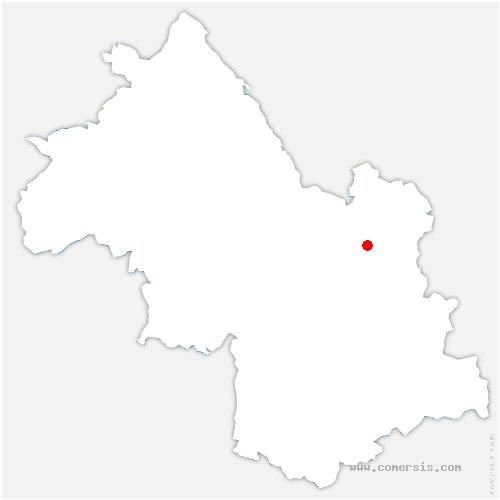 carte de localisation de Hurtières