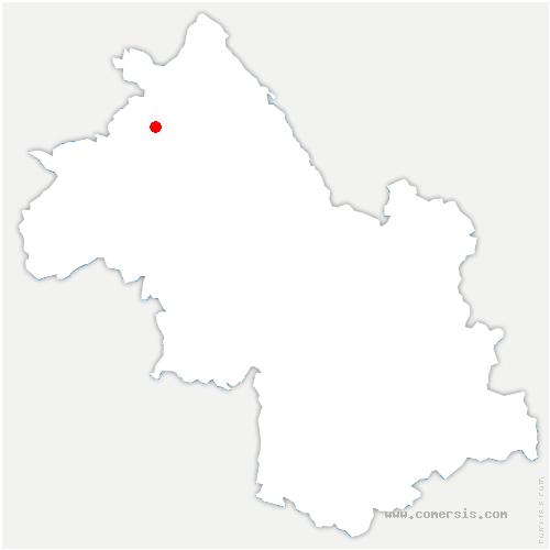 carte de localisation de Isle-d'Abeau