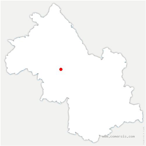 carte de localisation de Izeaux