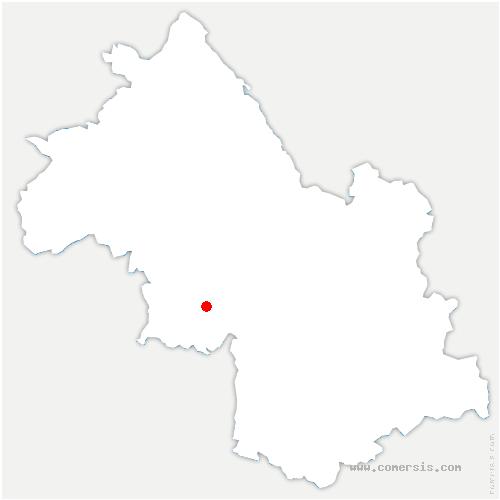 carte de localisation de Izeron