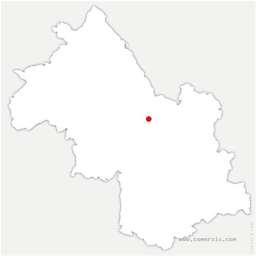 carte de localisation de La Sure en Chartreuse