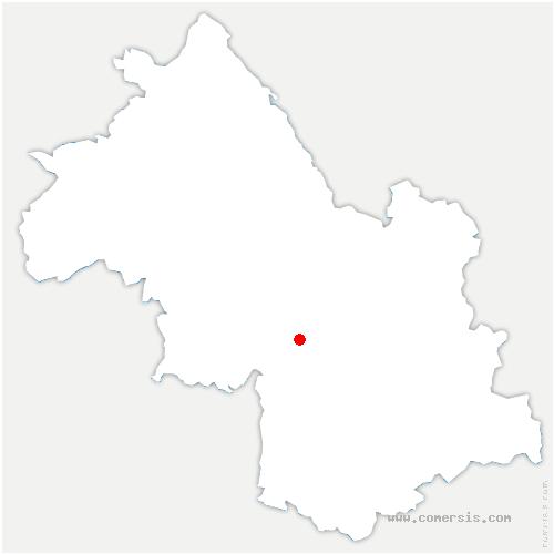 carte de localisation de Lans-en-Vercors