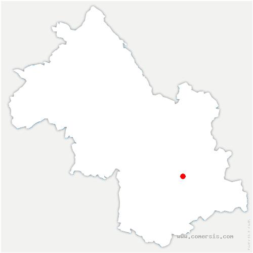 carte de localisation de Lavaldens