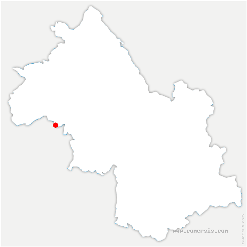 carte de localisation de Lentiol