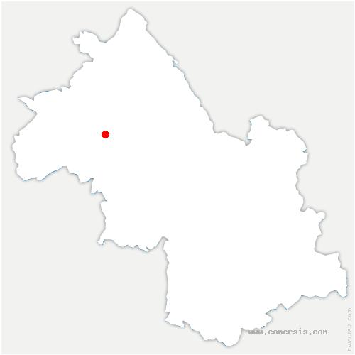 carte de localisation de Lieudieu