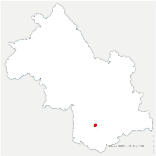 carte de localisation de Marcieu