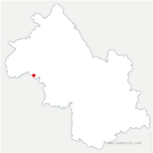 carte de localisation de Marcollin