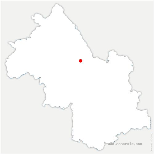 carte de localisation de Massieu