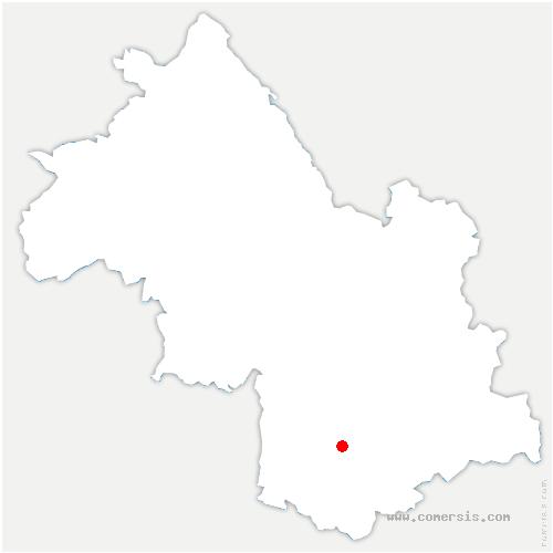 carte de localisation de Mayres-Savel