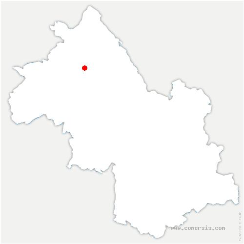 carte de localisation de Meyrié