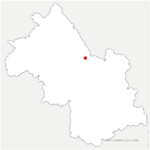 carte de localisation de Miribel-les-Échelles