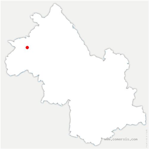 carte de localisation de Moidieu-Détourbe