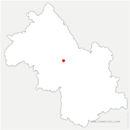 carte de localisation de Moirans
