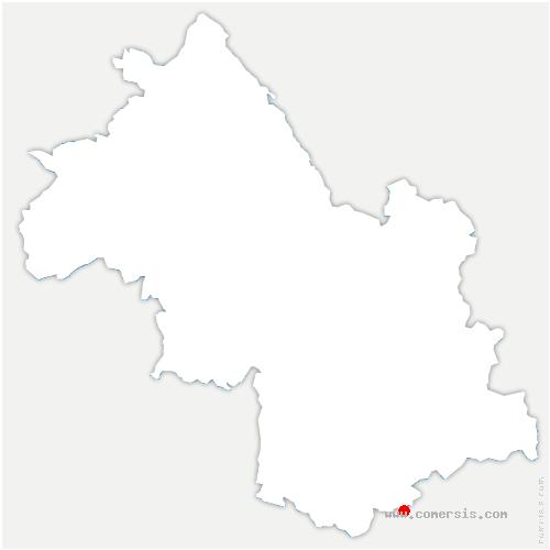 carte de localisation de Monestier-d'Ambel