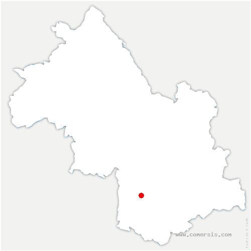 carte de localisation de Monestier-de-Clermont