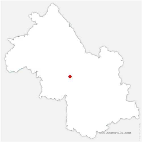 carte de localisation de Montaud