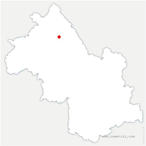 carte de localisation de Montcarra