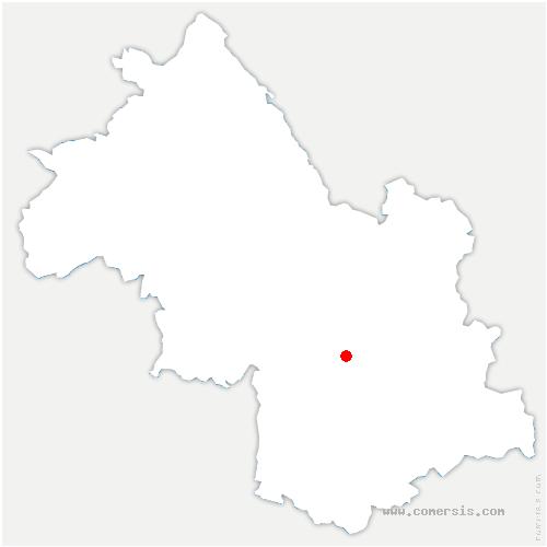 carte de localisation de Montchaboud
