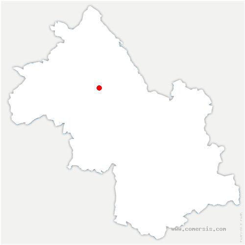 carte de localisation de Montrevel
