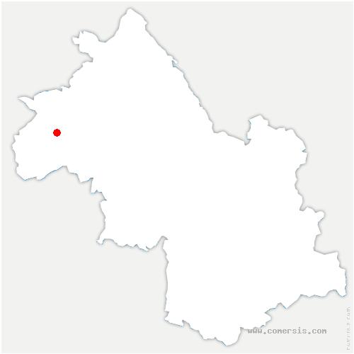 carte de localisation de Montseveroux