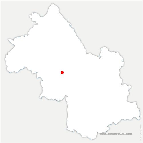 carte de localisation de Morette