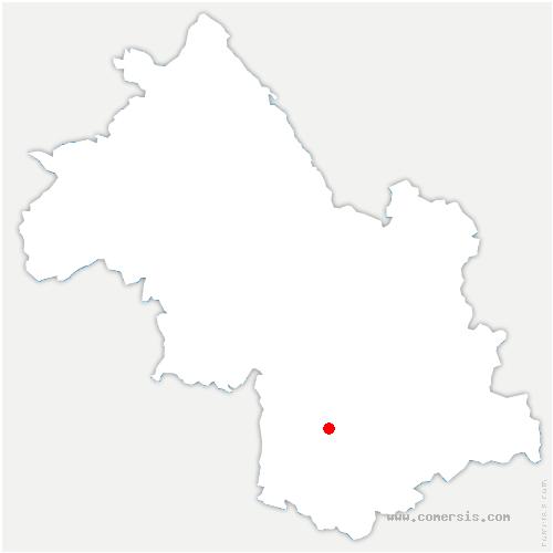 carte de localisation de Motte-Saint-Martin