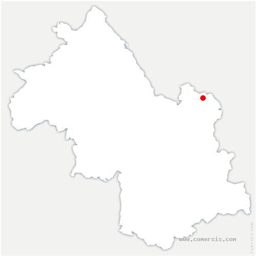 carte de localisation de Moutaret