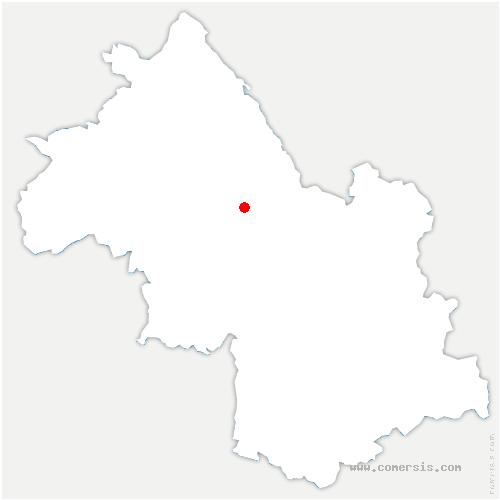 carte de localisation de Murette