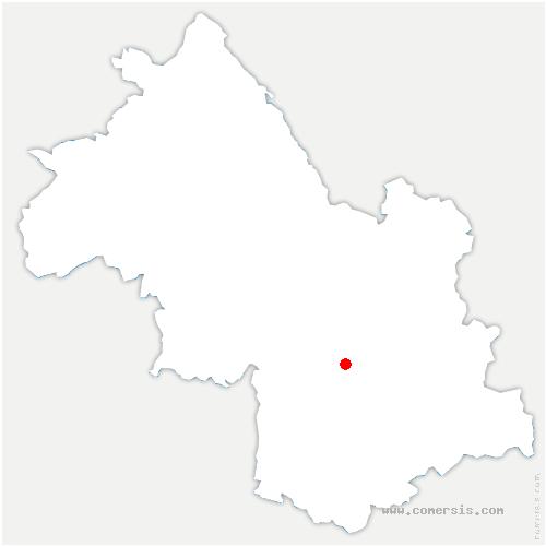 carte de localisation de Notre-Dame-de-Mésage