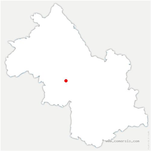 carte de localisation de Notre-Dame-de-l'Osier