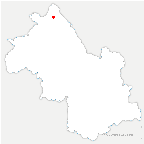 carte de localisation de Optevoz