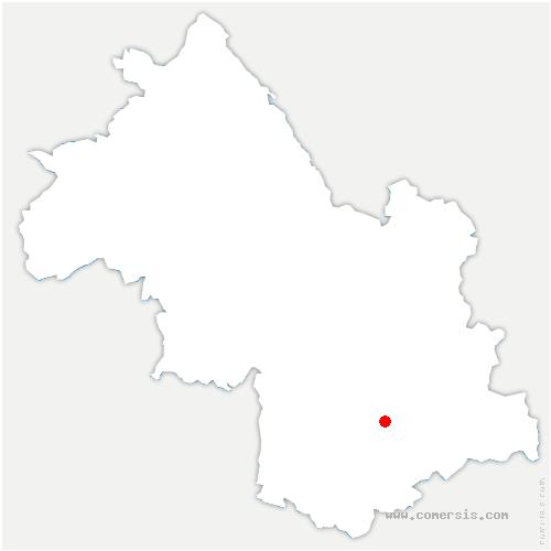 carte de localisation de Oris-en-Rattier