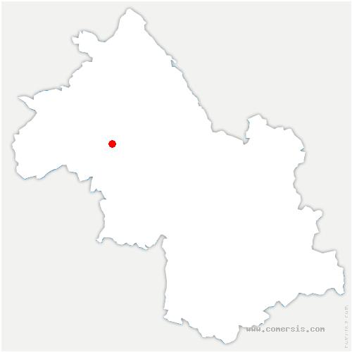 carte de localisation de Ornacieux-Balbins