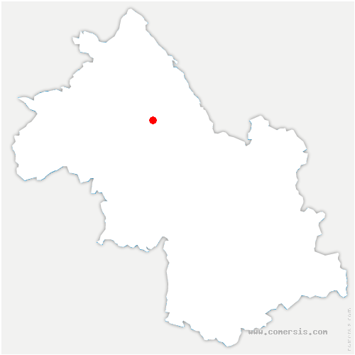 carte de localisation de Panissage