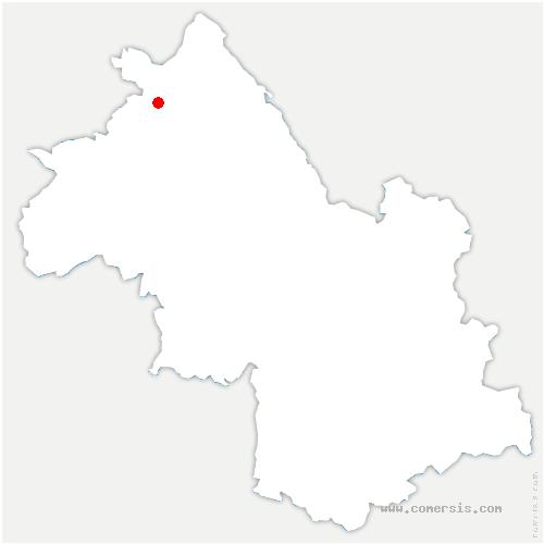 carte de localisation de Panossas