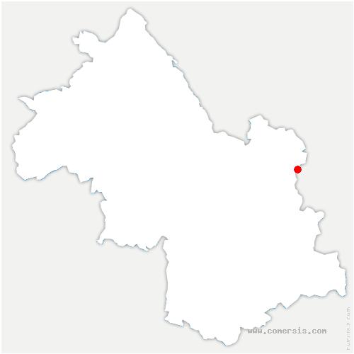 carte de localisation de Pinsot