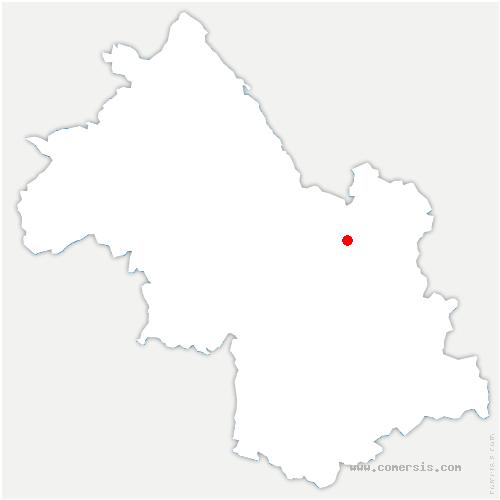 carte de localisation de Plateau-des-Petites-Roches