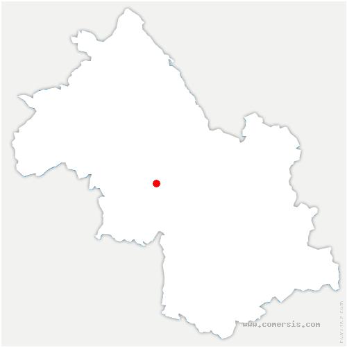 carte de localisation de Poliénas
