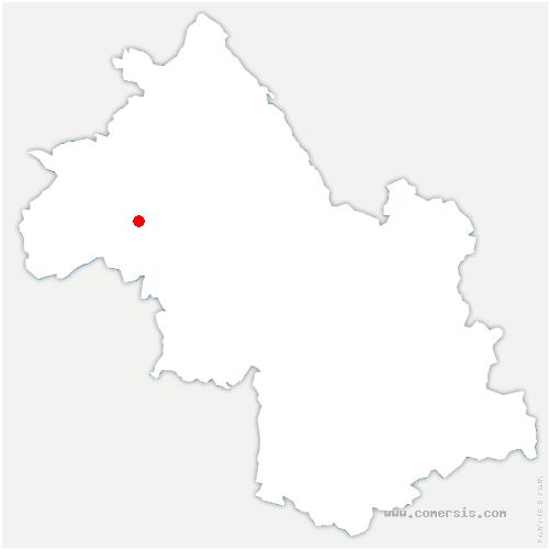 carte de localisation de Pommier-de-Beaurepaire