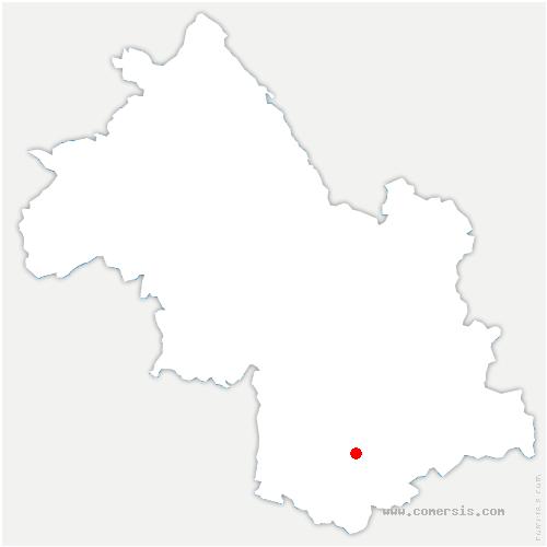 carte de localisation de Ponsonnas