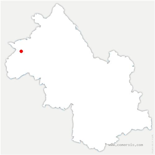 carte de localisation de Pont-Évêque