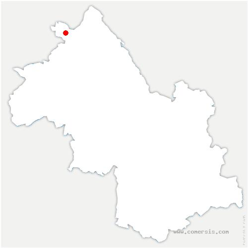 carte de localisation de Pont-de-Chéruy