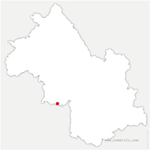 carte de localisation de Pont-en-Royans