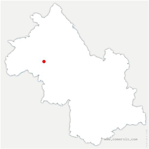 carte de localisation de Porte des Bonnevaux